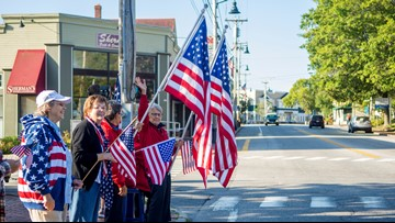Mainers celebrate 18 years of 'Freeport Flag Ladies' as they make one last stand