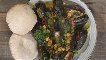 Chef Matt Ginn flexes his 'mussels'