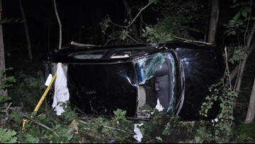 2 hospitalized after 'erratic' car hits trees in Springvale