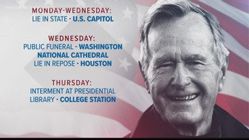 Memorial grows at Walker's Point for President George H.W. Bush as funeral plans announced
