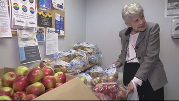 Woman gives back to her food pantry