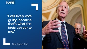 Sen. Angus King says he is likely to find Trump 'guilty' as he still demands senators hear from John Bolton