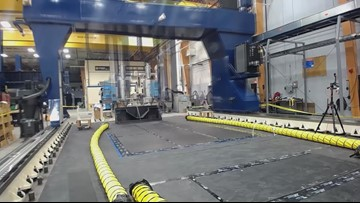 Captivating time-lapse video of UMaine 3D printer making a boat