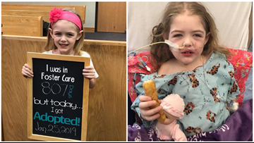 Recently adopted 4-year-old waits for a new set of lungs