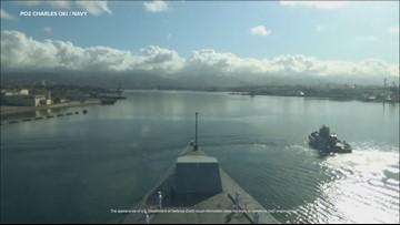 Watch the Bath-built USS Zumwalt transit Pearl Harbor