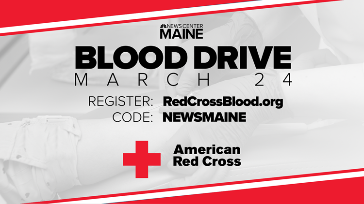 'Help Can't Wait': Register to donate blood at NEWS CENTER Maine's 2021 Red Cross Blood Drive on March 24