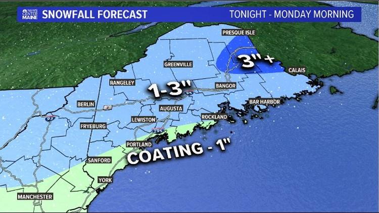 Monday Snow Forecast