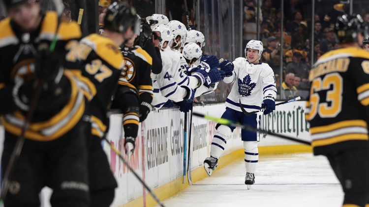 Leafs unleash decades of pent-up aggression on Bruins with 1st playoff penalty shot in 20 years