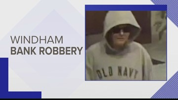 Windham bank robbery suspect sought by police