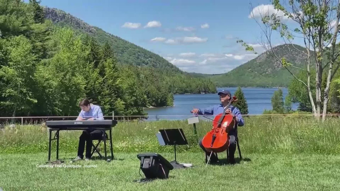 Acclaimed cellist Yo-Yo Ma performs at Acadia National Park