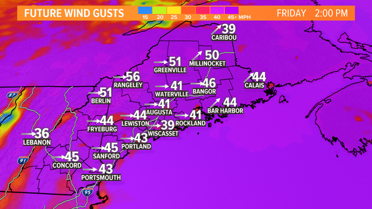 Wind: Friday afternoon