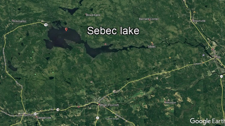 Sebec Lake Map