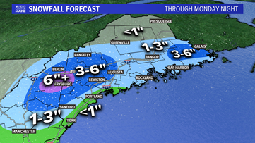 Maine rain, snow closes out the end of April