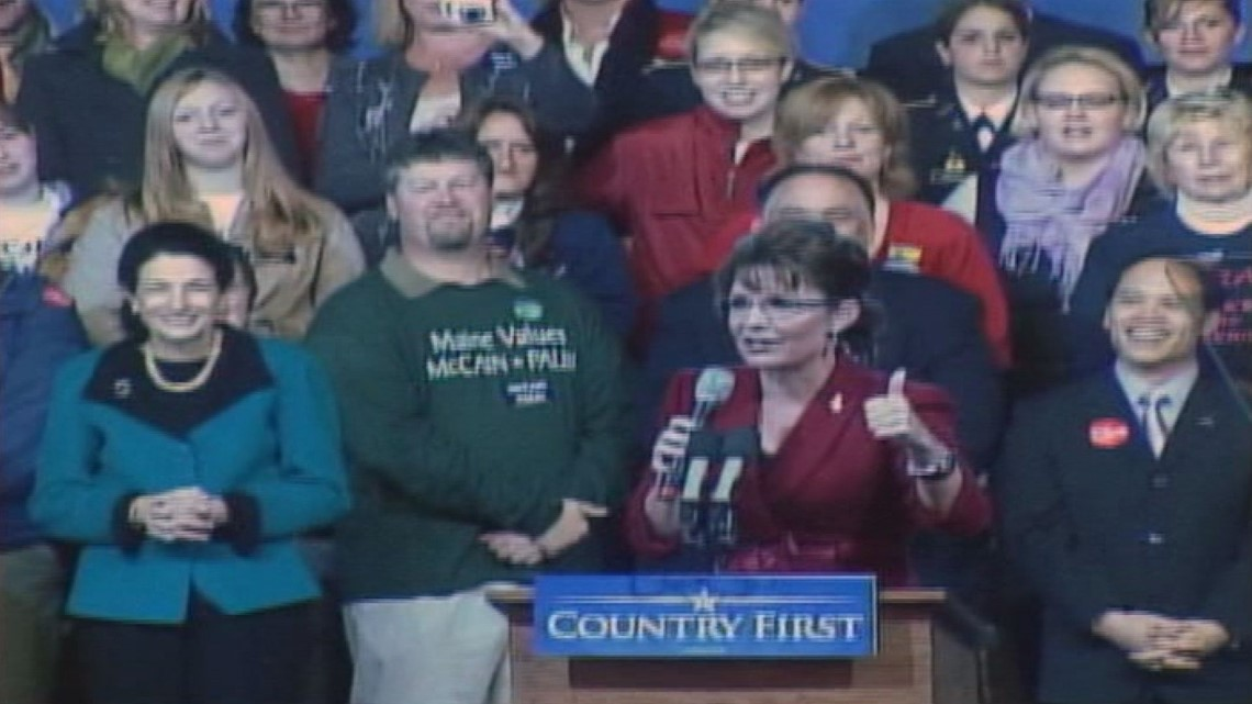 Sarah Palin bonds with Maine Republicans over hunting and history