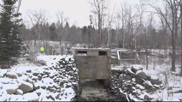 Hydroelectric station removed on Denny's River in Meddybemps