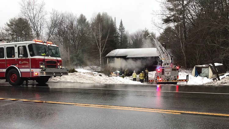 Two hospitalized after two-alarm Casco house fire