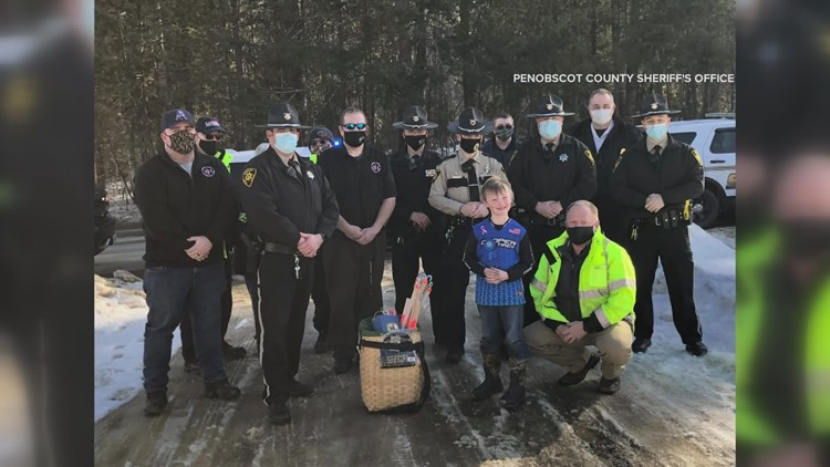 Maine town officials host birthday celebration for boy who paid for sheriff's deputy lunch