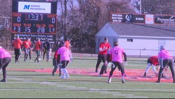 Biddeford High School alumni flag football game sparks new tradition