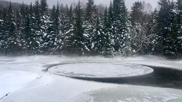 Ice ice baby! Another ice disc found in Baxter State Park