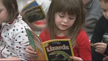 MEA hands out free books to first graders in Bangor