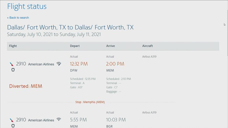 American Airlines flight heading to Bangor gets  diverted due to possible mechanical issues