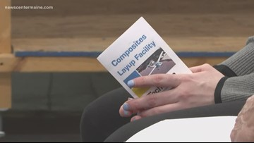 Mills, lawmakers, business leaders visit Brunswick's Composites Layup Facility