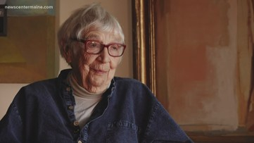 Constance Keirmaier still creating art and teaching it at 93