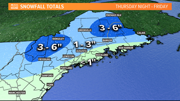First snow of the season for Maine to end the week