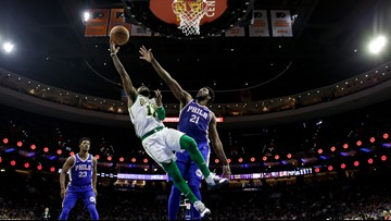 Swatted shot sinks Celtics' season sweep of Sixers