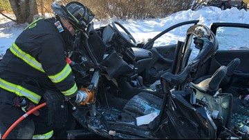 19 minutes later: Driver freed from crushed car