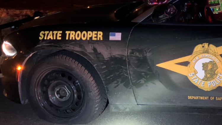 NH State Trooper side-swiped in Newington