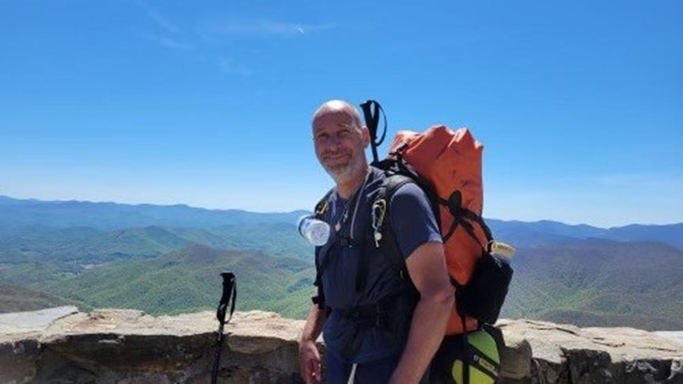 Brain injury survivor hiking Appalachian Trail to raise awareness
