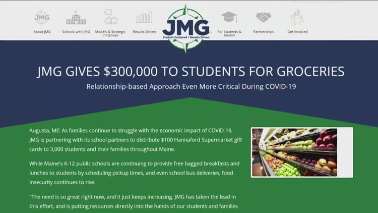 Jobs For Maine's Graduates gives Hannaford gift cards to students for groceries during coronavirus, COVID-19 pandemic