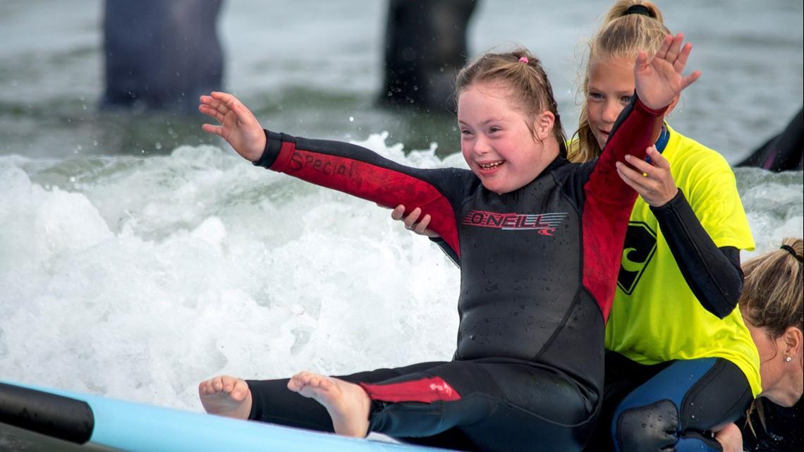 Special Surfers at Gooch's Beach