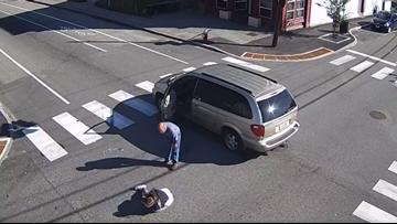 Video shows Lewiston's mayor-elect hit pedestrian in crosswalk