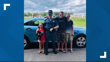 Maine State Police rescue stranded woman and her kids from roadside
