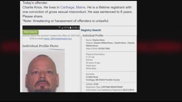 Maine sex offender web site