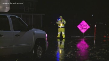 Route 1 on Saco and Scarborough line closed from storm