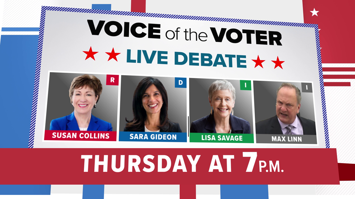 Senate candidates to face off Thursday in debate hosted by NEWS CENTER Maine