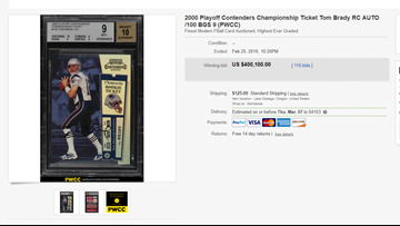 Brady Rookie Card Sells For More Than 400000 Newscentermainecom