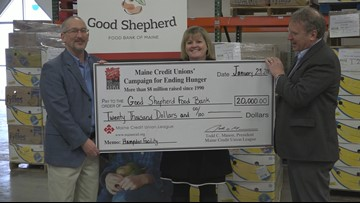 Good Shepherd Food Bank receives donation from Maine Credit Union League