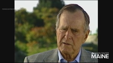 When 207 visited George Bush in Kennebunkport, it was a day to remember