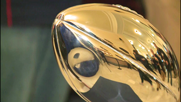Dent and all, Pats' latest Lombardi Trophy visits Maine