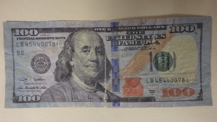 Counterfeit Bill in Winslow
