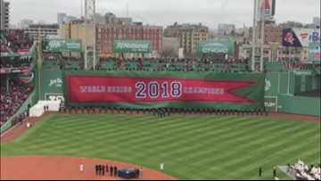 Red Sox fans make their way to Fenway for Opening Day