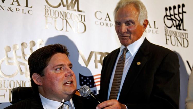 Nick Buoniconti and his son, Marc