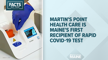 Maine's first recipient of Abbott Labs' rapid COVID-19 test is Martin's Point Health Care