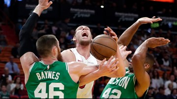 Celtics form a roadblock to stall the Heat's drive to the playoffs