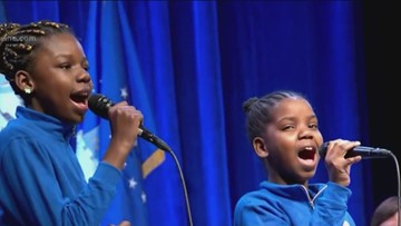 Watch Shy and Natalia perform Alicia Keys' 'Girl on Fire' at Mills inauguration