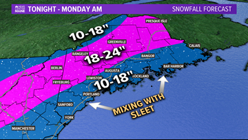 Sunday storm: Snow, ice, coastal flooding, then brutal cold